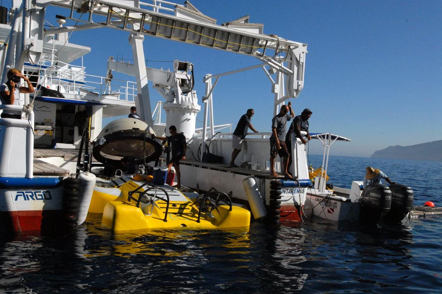 Safety checks on a submersible