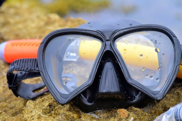 Black Silicone Dive Mask