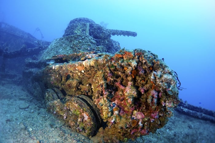 Underwater wreckage Micronesia on Thorfinn liveaboard