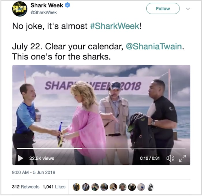 Shark week Shania Twain
