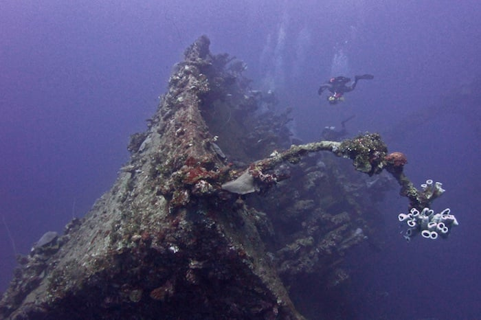 Wreck diving Micronesia on Thorfinn liveaboard